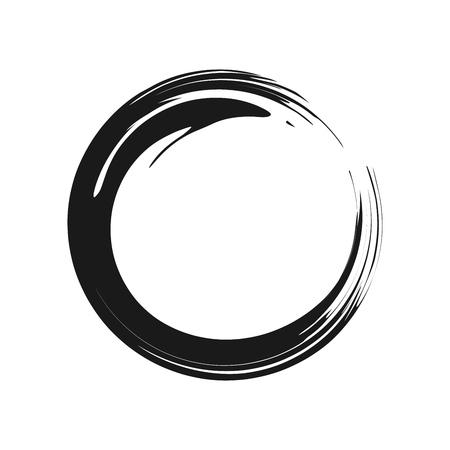 禅シンボル抽象ブラシベクトルグラフィックデザイン