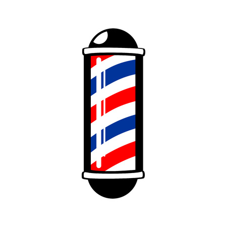 Barbers Pole Stripes Symbol Vector Graphic Badge Design