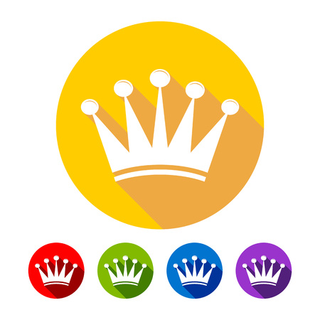 Simple Crown Flat Icons Vector Graphic Design