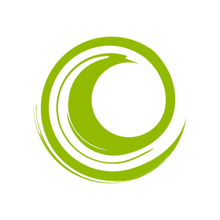 Custom Zen Wave Green Vector Symbol Graphic Logo Design 矢量图像