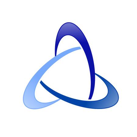 Alliance Global Triangle Swoosh Vector Symbol Graphic Logo Design Ilustração