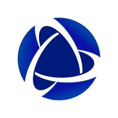 Blue Core Global Alliance Circular Vector Symbol Graphic Logo Design Emblem