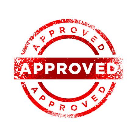 Approved Stamp Red Color Vector Symbol Graphic Logo Design