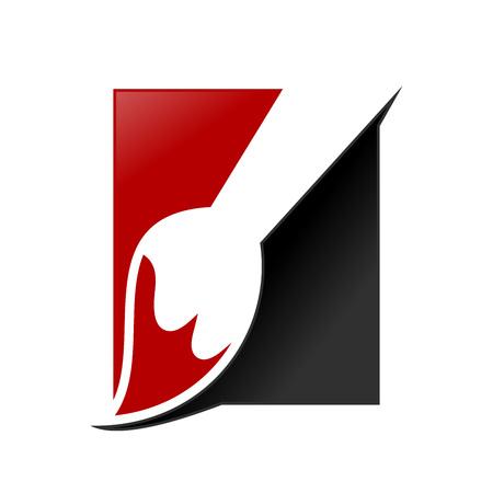 Artist Paintbrush Box Vector Symbol Graphic Design