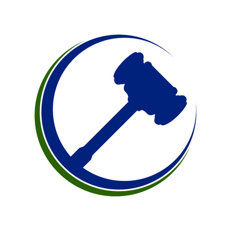 Law Hammer Justice Eclipse Vector Symbol Graphic Design