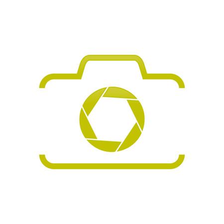 La moitié de la forme de l'appareil photo avec obturateur symbole vecteur création de logo graphique Logo