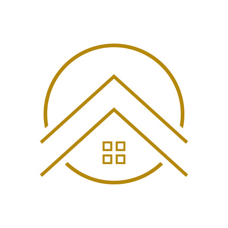 c789d4e163d Upscale Housing Outline Vector Symbol Graphic Logo Design