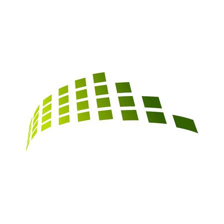 Network Blocks Transmission Vector Symbol Graphic Logo Design