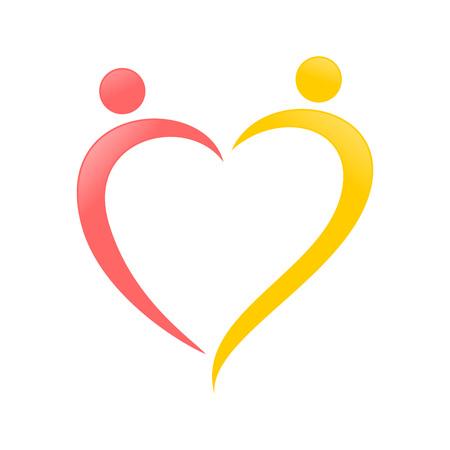 Love Shape Abstract Swoosh Vector Symbol Graphic Logo Design Template