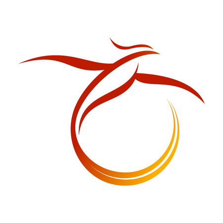 Phoenix Tail Swoosh Vector Symbol Graphic Logo Design Template Illustration