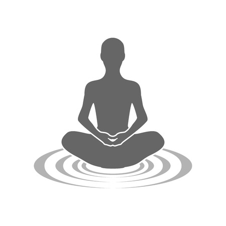 Ecos de meditación símbolo gráfico vectorial de la plantilla de diseño de logotipo Logos