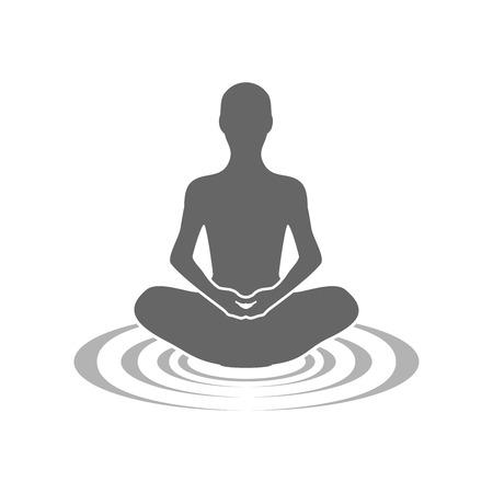 Méditation échos symbole vecteur modèle de conception de logo graphique Logo