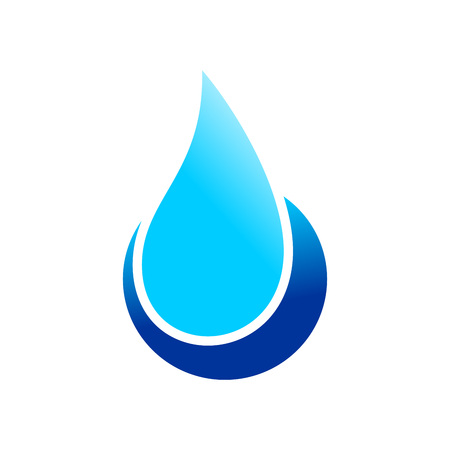 Water Drop Point Vector Symbol Graphic Logo Design
