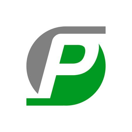 Initial P Lettermark Vector Symbol Graphic Logo Design Template