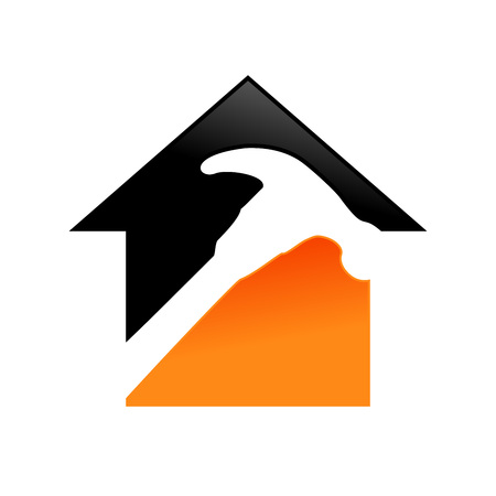 Home Repair Service Vector Symbol Graphic Logo Design Template 일러스트
