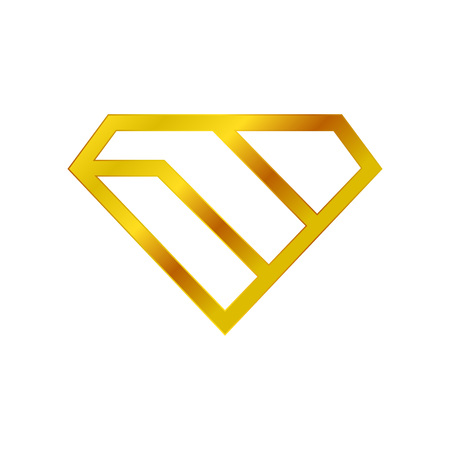 Diamond Stacked Golden Wealth Vector Symbol Graphic Logo Design Template