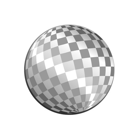 Silver Light Disco Ball Vector Symbol Graphic Logo Design Template