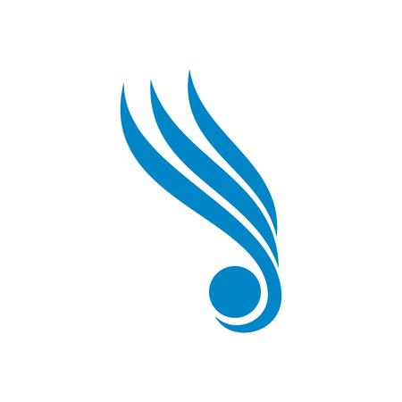 Celestial Wing Vector Symbol Graphic Logo Design Template Illustration