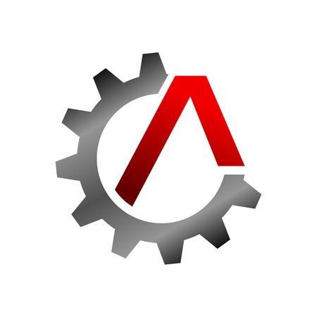 Civil Engineering Initial A Lettermark Vector Symbol Graphic Logo Design Template 矢量图像