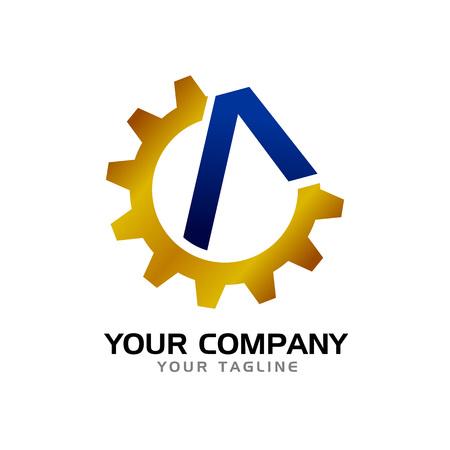 Initial A Civil Company Vector Symbol Graphic Logo Design Template