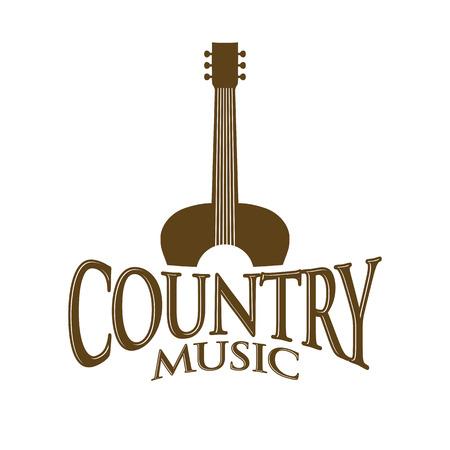 Country Music Sign Vector Symbol Graphic Logo Design Ilustração