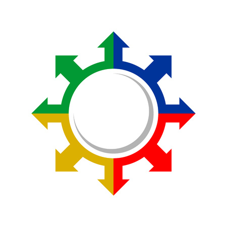 Explorer Compass Direction Colours Vector Symbol Graphic Logo Design Template