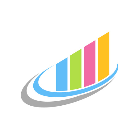 Colourful Fast Chart Statistic Swoosh Vector Symbol Graphic Logo Design Template