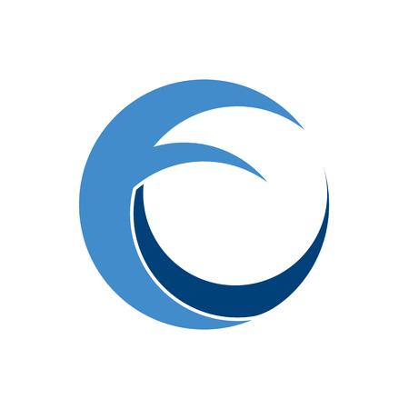Sea Wave Circular Abstract Circular Vector Symbol Graphic Logo Design Template