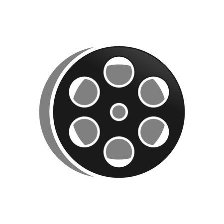 Film Roll Vector Illustration Symbol Graphic Logo Design Template  イラスト・ベクター素材