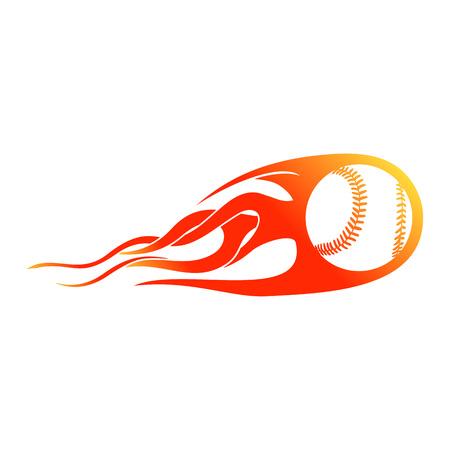 Baseball Blast Flames Vector Symbol Graphic Logo Design Template  イラスト・ベクター素材