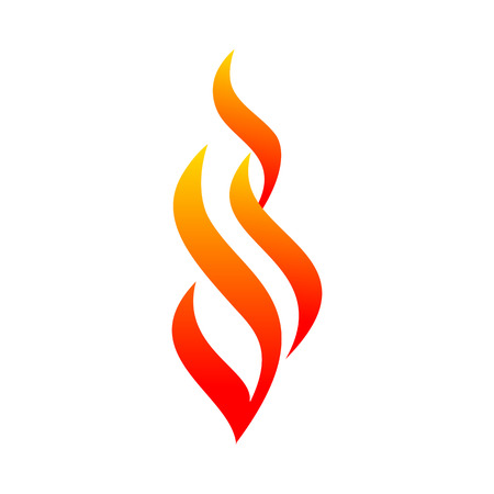 Abstract Flaming Fire Curves Vector Symbol Graphic Logo Design Template