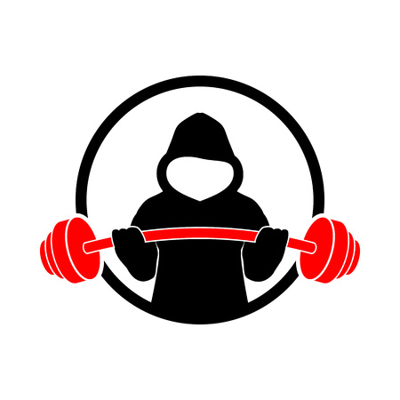 Hoodie Fitness Strength Gym Vector Illustration Symbol Graphic Logo Design Template  イラスト・ベクター素材