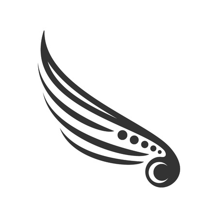 Tribal Wing Mark Vector Symbol Graphic Logo Design Template