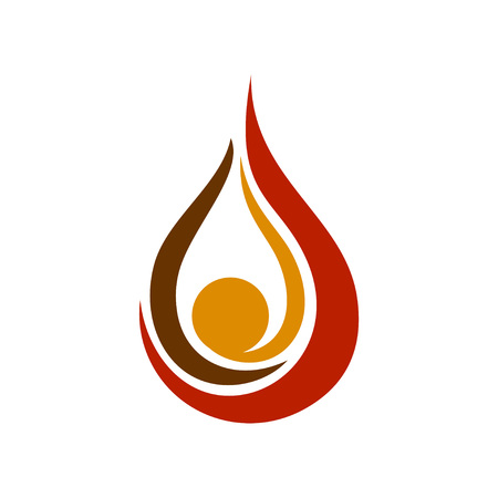 Oil Drop Flames Vector Symbol Graphic Logo Design Template