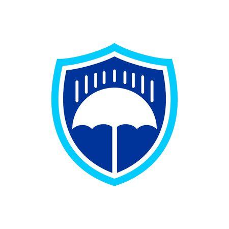 Rain Protection Illustration Shield Vector Symbol Graphic Logo Design Template  イラスト・ベクター素材
