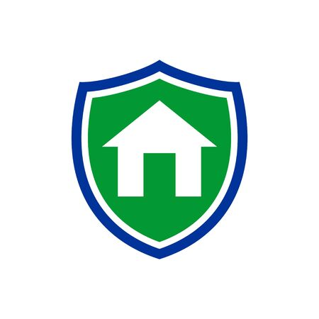 Simple Homeguard Shield Insurance Vector Symbol Graphic Logo Design Template  イラスト・ベクター素材