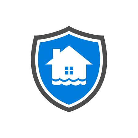 Homeguard Flood Protection Vector Symbol Graphic Logo Design Template