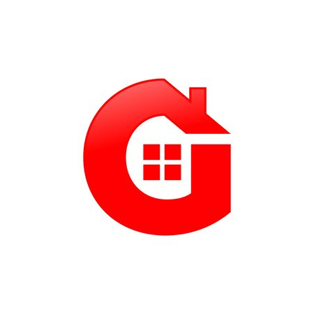 Letter G House Shape Icon Symbol Design 写真素材 - 126642514