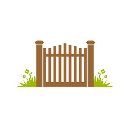 Garden Gate Fence Illustration Design
