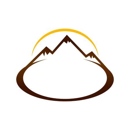 Brown Mountain Landscape Sign Symbol Design  イラスト・ベクター素材