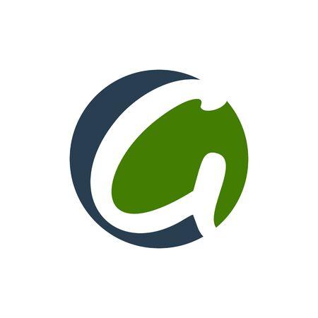 Initial G Lettermark Circular Shape Symbol Design  イラスト・ベクター素材