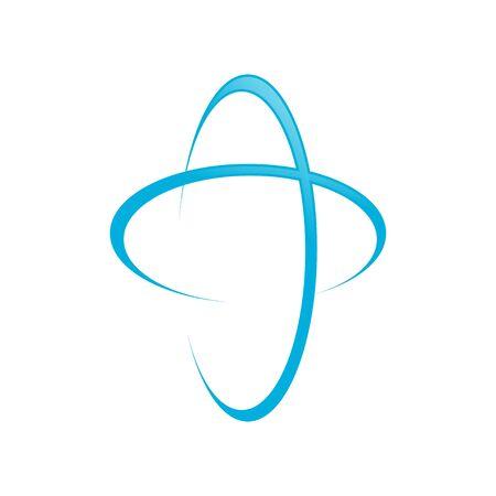 Global Blue Cross Swoosh Symbol Design