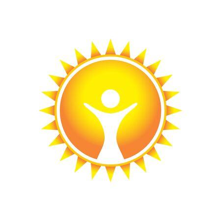 Glorious Wonder Sun Symbol Design  イラスト・ベクター素材