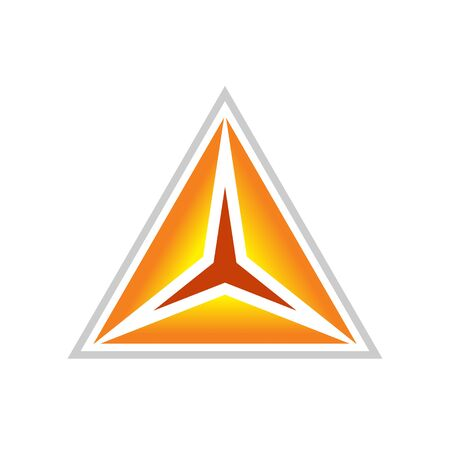 Golden Clarity Triangle Symbol Design