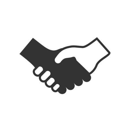Handshake Deal Vector Icon Symbol Graphic Logo Design Template  イラスト・ベクター素材