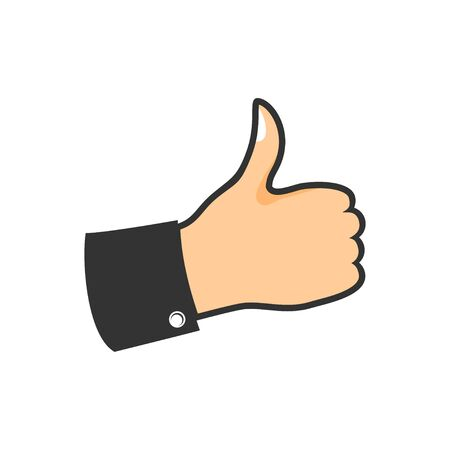 Hand Thumb Up Pop Vector Illustration Symbol Graphic Logo Design Template  イラスト・ベクター素材