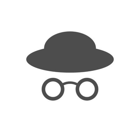 Stylist Profile Old Glasses Hat Vector Symbol Graphic Logo Design Template  イラスト・ベクター素材