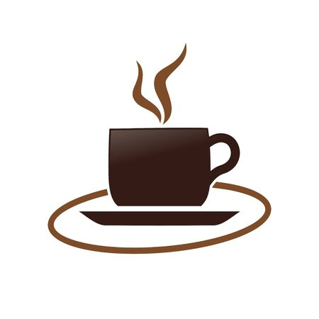 Hot Coffee Cup Simple Symbol Design  イラスト・ベクター素材