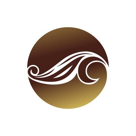 Floral Art Nouveau Circular Shape Symbol Design 写真素材 - 134557495