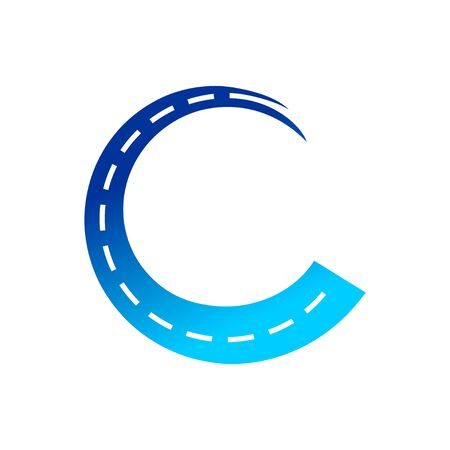 Highway Coating Initial C Symbol Design  イラスト・ベクター素材